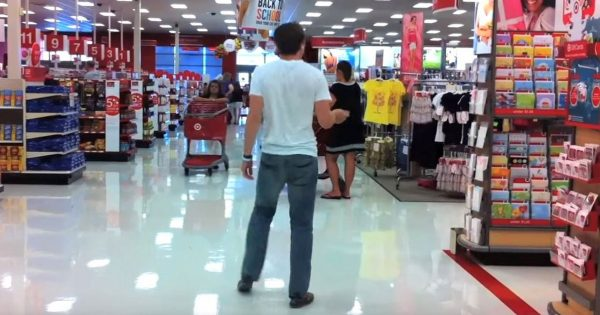 Young Man Walks In Target, Suddenly Breaks Out Moves That Have All Shoppers Turning Heads