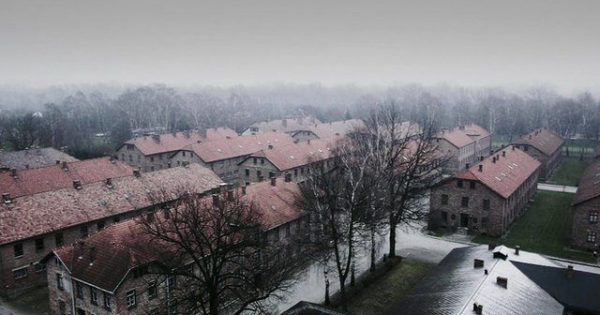 70 years after the Holocaust, a drone flies over Auschwitz and captures something beyond bone-chilling