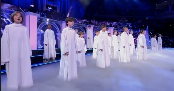 Young Boys in White Robes Take The Stage. Moment They Hit 1st Note, Audience Gets Instant Chills