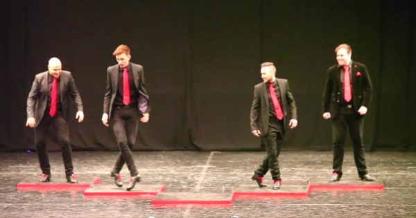 4 Men Line On Stage And Start To Irish Dance – But When 5th Man Joins Them, Routine Instantly Transforms