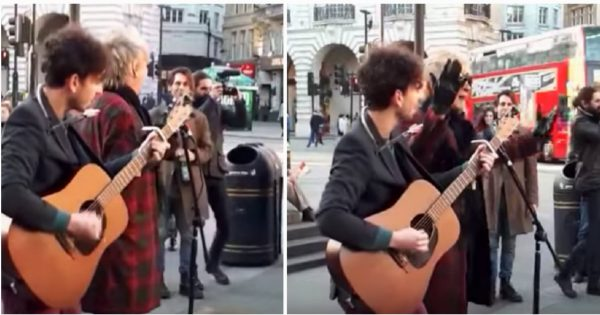 Random Guy Asks Street Musician To Join In, Then Crowd Freeze In Their Tracks Upon Hearing Familiar Voice