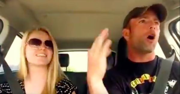 Teen Girl Lip Syncs Famous Hit In The Car. Seconds Later, Dad Joins In And Leaves Millions In Fits Of Laughter
