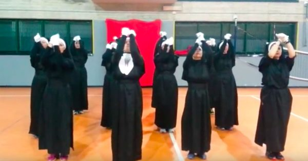 12 Nuns Raise Their Arms Toward Heaven – Then The Music Changes And Internet Can't Stop Cracking Up