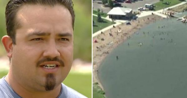 Man felt 'something' brush up his leg in water. Screamed to call 911 when he saw a 'tiny leg'