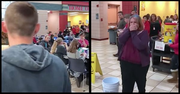 Teen heartbroken when classmates ignored her on Valentine's day. Then older boy interrupts lunch to give them lesson