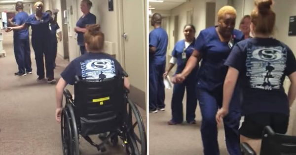 Mysteriously paralyzed girl approaches her favorite nurse in wheelchair. Then mom records the unbelievable