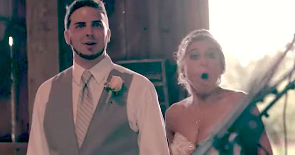 Bride and groom wait for DJ to play special song – Then sister asks them to look at person standing at door