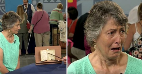 Woman discovers worn out hymn book in basement –  when she learns its true value, her entire body shakes