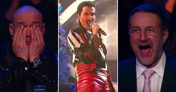 """Freddie Mercury"" floors the judges with epic Queen rendition then audience realizes who's hiding behind the mask"