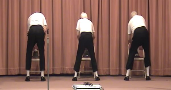 3 Old Men Shuffle Onstage – But When They Turn Around, The Quiet Crowd Instantly Goes Wild