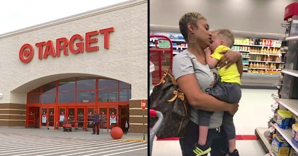 Mom is panicked when her two boys wouldn't stop crying at Target. Then a stranger steps in and saves the day