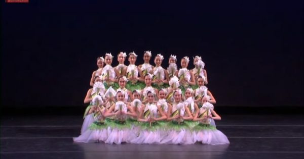 24 ballerinas form a perfect line. Moment they split their formation, audience is dazzled by sensational routine