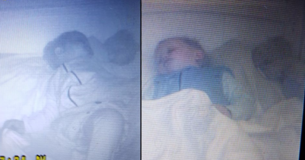 Mom screams at baby monitor when she spots 'another baby' climbing into her son's crib