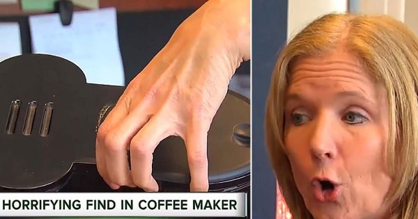 Mom feels sick every morning for 6 months – takes a look inside coffee machine and makes horrifying discovery