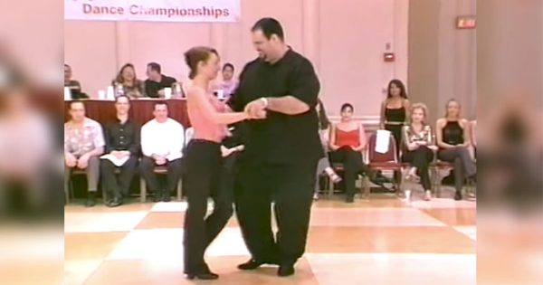 Audience calls him fat – but now watch when he grabs a woman's hand and starts dancing