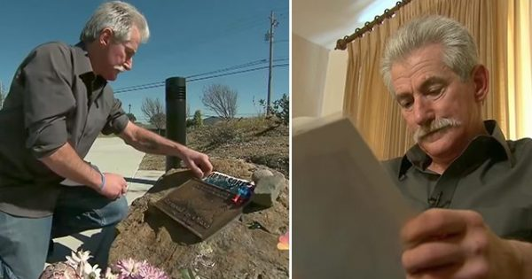Mourning dad builds secret memorial for late son on abandoned property. Then one day he discovers a note on it