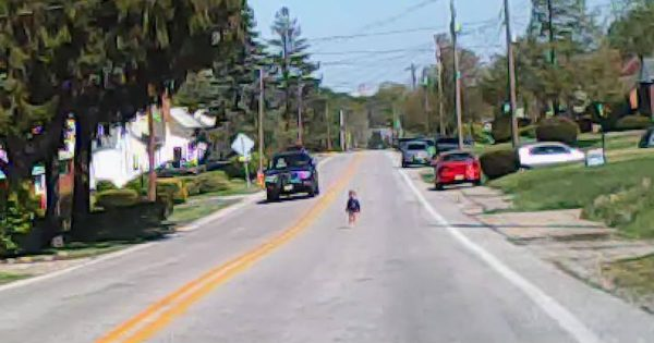 Man spots toddler standing in middle of road, steps closer and realizes something is terrifyingly wrong