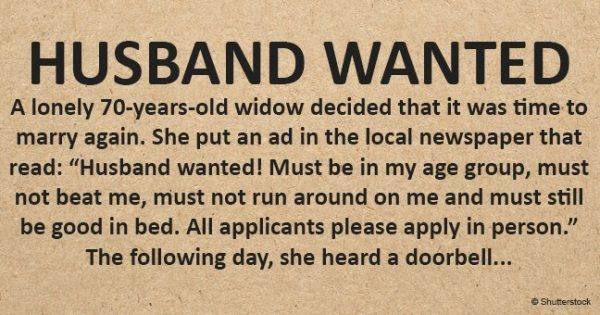 70-year-old widow wants to marry again – posts hilarious single ad in newspaper that goes viral