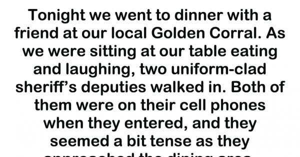 Two Cops Walked Into A Restaurant On Their Phones. A Woman Snapped A Photo When They Did This.