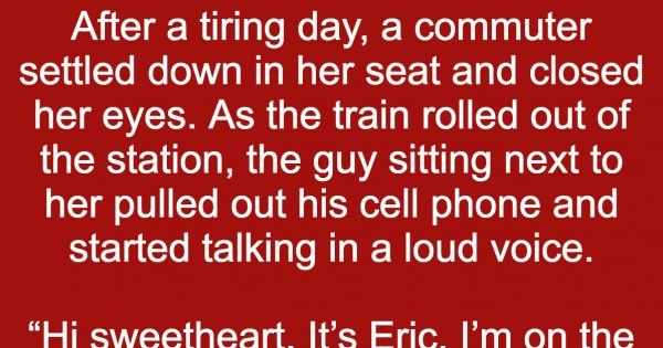 Rude passenger wouldn't stop yapping on the train, this woman's response was genius…