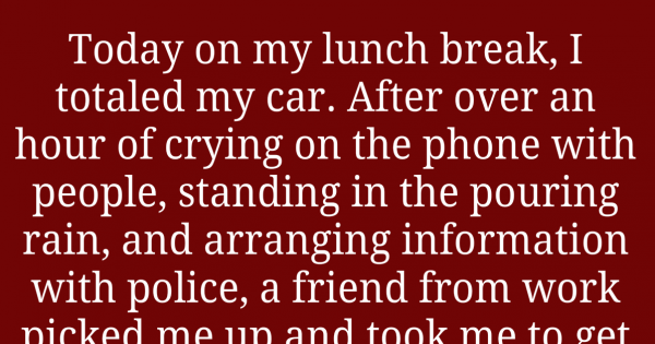Woman who wrecked her car stunned when fast food worker says this
