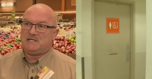 Store manager hears screams from the bathroom – throws open the door and gasps at astonishing sight