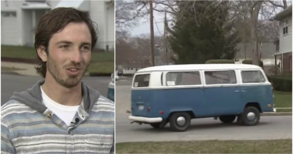 16-year-old teen slips note in dream van – 8 years later, he gets a stranger's call that changes everything