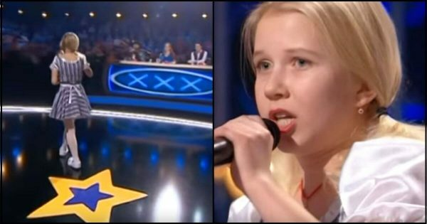 Little blonde girl stands on stage – Few seconds into audition, unexpected twist leaves judges stunned