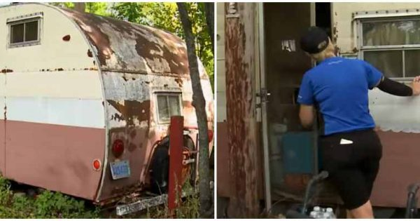 Woman delivers pizza to broken-down trailer, opens door and discovers the heartbreaking truth..