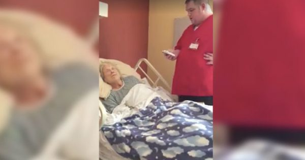 Hospice worker approaches dying woman's bed while she sleeps – then they catch his unexpected move on camera