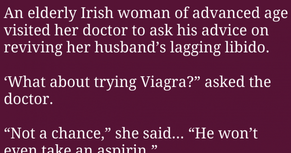 An Elderly Irish Woman To Improve Their Marriage, But Never Expected This To Happen
