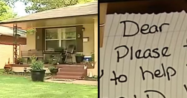Postal worker delivers mail to house only to find sign on porch that spreads like wildfire