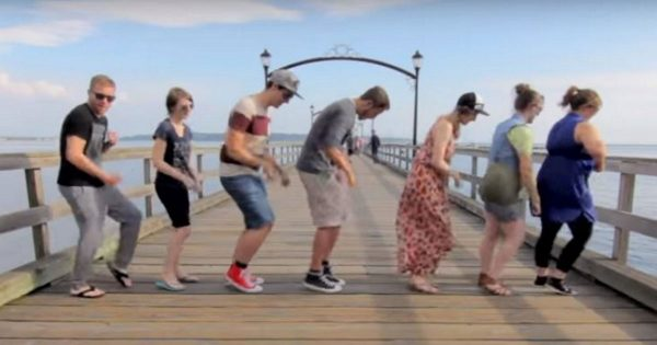 Man road trips 10,000 miles to show strangers 1 dance. Puts it together for epic dance video