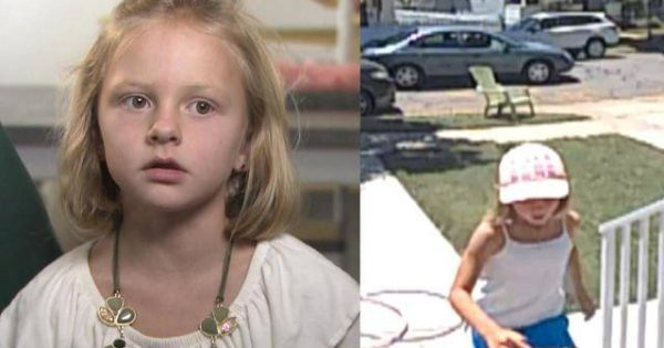 7-year-old sunbathes outside her house – then stranger pulls over and asks her spine-chilling question