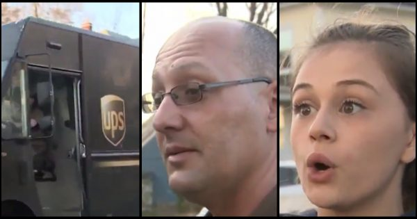 UPS driver bangs on woman's door only she's unaware of chilling scene taking place on front porch