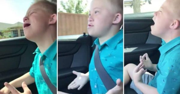 Dad secretly films son with Down syndrome singing Whitney's hit, has no idea he's recording viral video