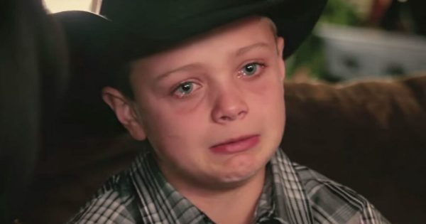 Boy loses his father to cancer – breaks down as he walks outside and sees his surprise