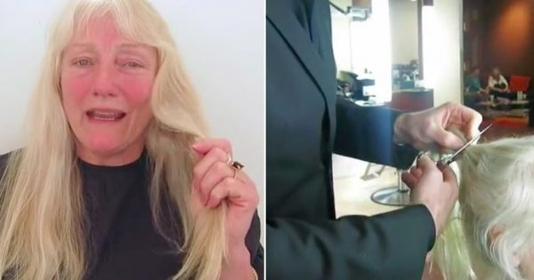 "Woman tells hairdresser ""do whatever you want"" – now watch him completely transform her look"