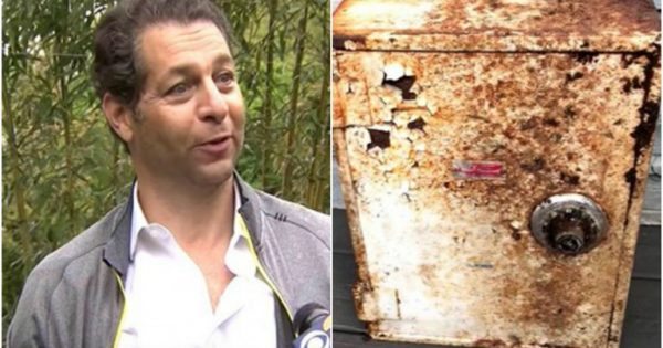 Man thinks rotting metal box in backyard is no worth until he opens it and realizes it holds lost treasure