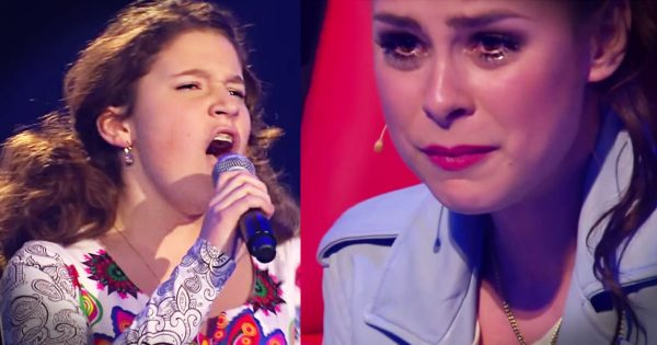 13-year-old girl steps on stage. Seconds later, Her emotional rendition of Bocelli classic brings everyone to tears