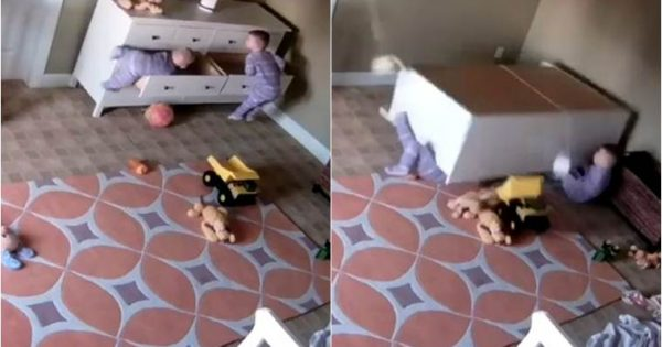 2-year-old miraculously saves twin from death trap – terrifying footage is a warning to all parents