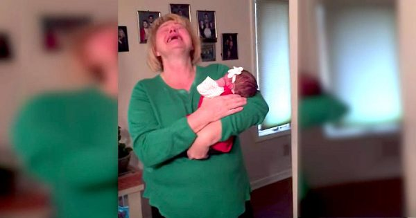 Woman meets her adopted baby granddaughter for the first time – and her reaction will leave you in tears