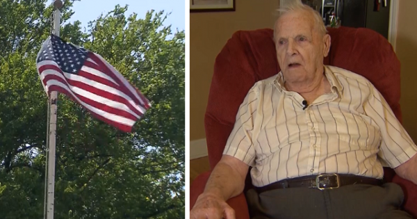 92-yr-old blind veteran assaulted while protecting his American flag. Next day, he gets surprising knock on door