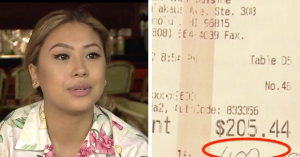 Waitress serves couple at restaurant – but when she sees tip on $200 meal, she immediately runs to their hotel