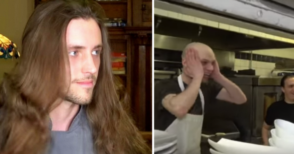 Young chef hasn't cut his hair in 5 years: gets new sexy look that leaves his coworkers in total shock