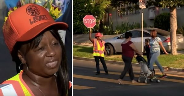 Little girl crosses street with woman: Screams 6 words that forces guard to take an extreme decision