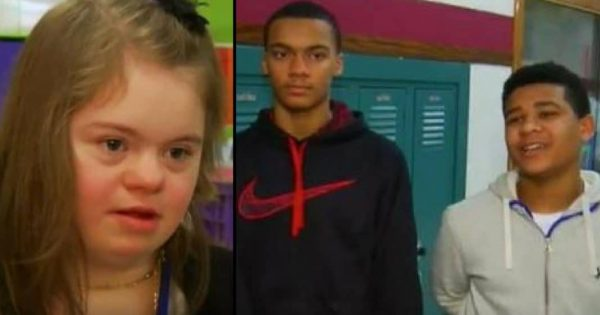 Bullies mock cheerleader with Down Syndrome – basketball players stop the game to defend her