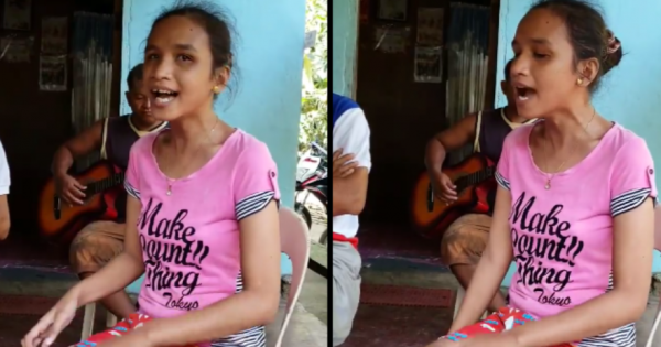Blind girl who can't speak English gives heartfelt rendition of Whitney Houston's hit that has millions in tears