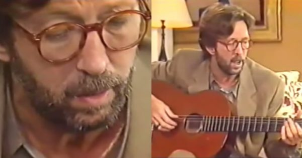 """Eric Clapton plays """"Tears in Heaven"""" for 1st time after son's tragedy and it's making a lot of people cry"""