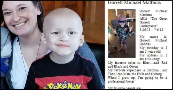 5-year-old boy died from rare cancer. His one-of-a-kind obituary brought the whole nation to tears